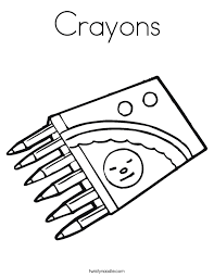 Small Picture Crayons Coloring Page Twisty Noodle