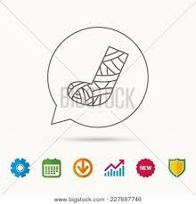 Cast Chart Gypsum Cast Foot Icon Vector Photo Free Trial Bigstock