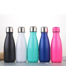 double walled cola shape vacuum bottle insulated stainless steel vacuum flask thermos water bottle travel tea coffee mug 260ml