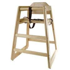restaurant style wooden high chair. Wooden Restaurant Style High Chair - Child Seat Natural Wood Color W