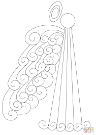 Small Picture Abstract Swirly Angel coloring page Free Printable Coloring Pages