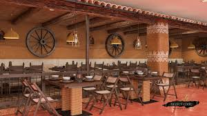 Design Theme Bangalore Ethnic Village Theme Restaurant In The Heart Of The City