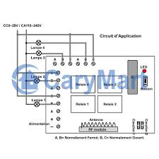 4 Channel DC RF Wireless Remote Control Radio Transmitter Receiver