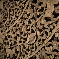 large grand carved wooden wall art or ceiling panel siam sawadee large sawadee full