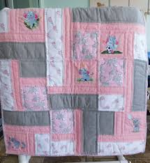 handmade baby quilts for sale Archives - unique baby quilt boutique & Elephants in Pink and Grey - Handmade Baby Quilt for Girls Adamdwight.com