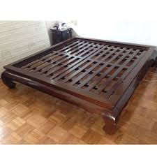 Prestington Mahogany Bed Frame Wayfair Co Uk Intended For Designs 18 ...
