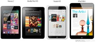 Apple Ipad Mini Vs Google Nexus 7 Kindle Fire Hd Nook Hd