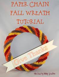 how to make a paper chain fall wreath tutorial easy diy craft tutorial idea