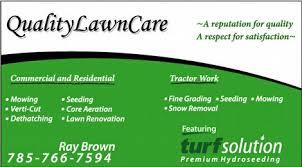 lawncare ad quality lawn care ks