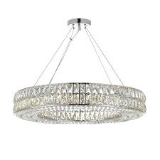 16 light chandelier ring reviews touareg wide chrome 6 crystal 16 light chandelier modern chandeliers alt image 1 starcher crystal