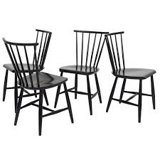 four 1950s swedish windsor style spindle back dining chairs from a unique collection of antique