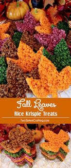 thanksgiving rice krispie treats. Unique Thanksgiving These Beautiful Fall Leaves Rice Krispie Treats Are Delicious Easy To Make  And Perfect For Intended Thanksgiving I
