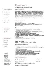 Sample Resume For Housekeeping Job In Hotel Elegant Housekeeper Cv Gorgeous Housekeeper Resume