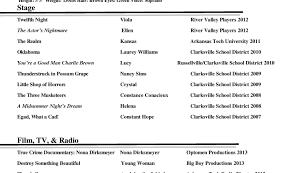 Sample Child Actor Resume Child Actor Resume Format Actor Resume