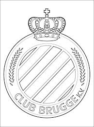 Kleurplaat Van Club Brugge Logo Gratis Kleurplaten
