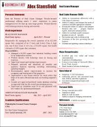 Real Estate Resume Stunning Real Estate Manager Resume 28 Examples