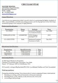 Resume Format For Experienced Accountant Pdf Igniteresumes Com