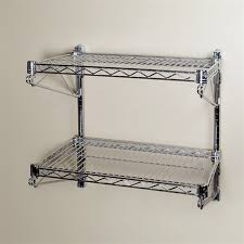 wonderful 18d wall mounted wire shelving kits w 2 levels dish dry rack throughout storage racks ordinary wall mounted wire shelving l6 wire