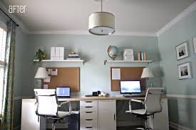 double desks for home office. plain wall desks home office for two ideas with black wood table intended double desk i