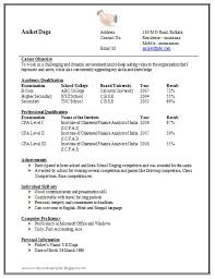 single page resume doc