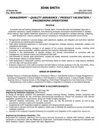 Quality Assurance Management Resume Sample & Template