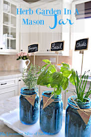 Herb Garden in a mason jar, great idea!