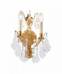 knightsbridge crystal wall light cry202fg