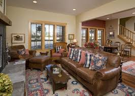 furniture s buffalo ny with traditional living room also area rug brown leather couches gladu design dining area fireplace nail head detail