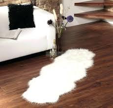 white faux rug sheepskin acrylic plus pretty sofa and corner shelve for living fur target white faux rug