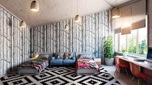 Wallpaper Decor For Living Room Fancy Purple Interior Design To Make Elegance Your Homes Blue