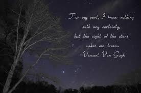 Dream For The Stars Quote Best of VanGoghstarsquote Rebecca Barray