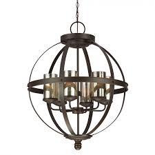 sea gull lighting 3110406 715 sfera 6 light chandelier in autumn bronze with mercury glass
