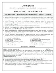 Electrician Resume Examples Custom Master Electrician Resume Template Updrillco