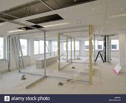prefab office space. Large Office Space Being Built And Divided Using Prefab Parts Frames For The Walls