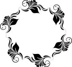 flowers pattern in a circle icons png free png and icons s circle black and white