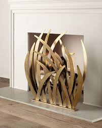 artsy fireplace screen