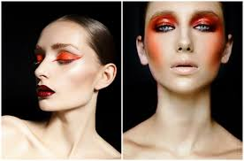 fashion makeup 2019 orange makeup blush splash