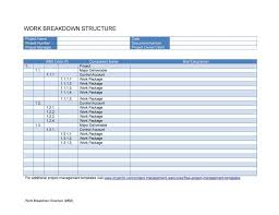 Deliverables Template 30 Work Breakdown Structure Templates Free Template Lab