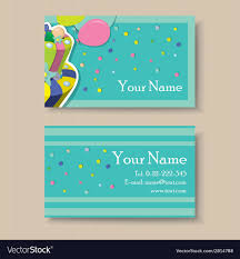 Birthday Business Cards Business Card With Birthday Cake Royalty Free Vector Image