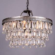 elegant retro clarissa glass drops led crystal chandeliers lamp for dining for french crystal chandelier