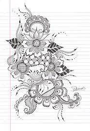 Pretty Henna Design Tattoos Stencil Pattern Coloring Kresby