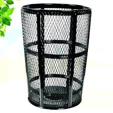 decorative outdoor trash cans can metal waste paper bin