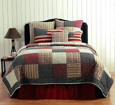 Americana Country Quilts For Masons Room Country Primitive Victory ... & Americana Country Quilts For Masons Room Country Primitive Victory Quilt  Bedding 3 Piece Sets Red White Adamdwight.com