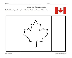 They learn briefly about the history of the country and what the flag and its. Canadian Flag Coloring Sheet That Resource Site