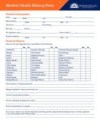 medical health history form medical health history form edit online fill out download forms