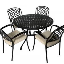cast aluminium 4 seater garden furniture set with round table