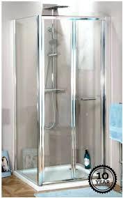 merlyn 8 series frameless hinged bifold shower door 900mm alterna bi fold white glass bathrooms winsome