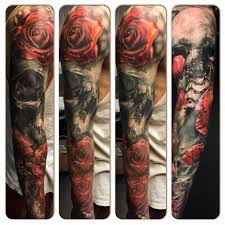 Image result for skull roses tattoo