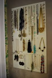 Jewelry Organizer Diy Jewelry Wall Organizer Diy Home Design Ideas