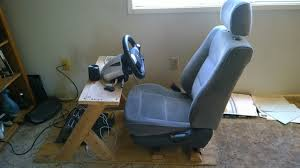 sim racing rig single weekend sub 250 design diy now if i can just find the right seat
